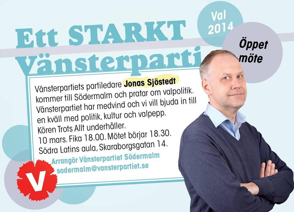 Öppet möte Jonas Sjöstedt